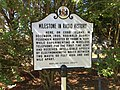 "2016-08-28 10 17 54 ""Milestone in Radio History"" historical marker at the south end of Cobb Island Road on Cobb Island, Charles County, Maryland.jpg"