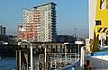 2016 Woolwich Ferry view, Mast Quay 1.jpg
