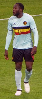 a129d84c8 Lukaku playing for Belgium against Russia in March 2017