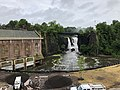 2018-07-25 08 39 41 View of the Great Falls of the Passaic River from just north of McBride Avenue within Paterson Great Falls National Historical Park in Paterson, Passaic County, New Jersey.jpg