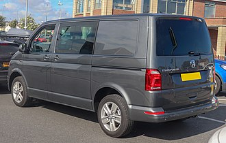 Volkswagen Transporter (T6) - Volkswagen Transporter T32 Highline rear view