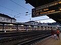 2020-07-05 Information boards at Bratislava hlavná stanica platform 10.jpg