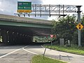 2020-08-07 17 16 04 View west along Maryland State Route 372 (Wilkens Avenue) at the exit for Interstate 695 SOUTH (Glen Burnie) on the edge of Catonsville and Arbutus in Baltimore County, Maryland.jpg