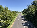 2020-08-18 11 24 20 View east along the eastbound lanes of Maryland State Route 704 (Martin Luther King Junior Highway) from the overpass for Maryland State Route 202 (Landover Road) in Landover, Prince George's County, Maryland.jpg