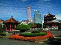 228 Memorial Park, Shin Kong Life Tower and Fubon Chengzhong Building 20120212.jpg