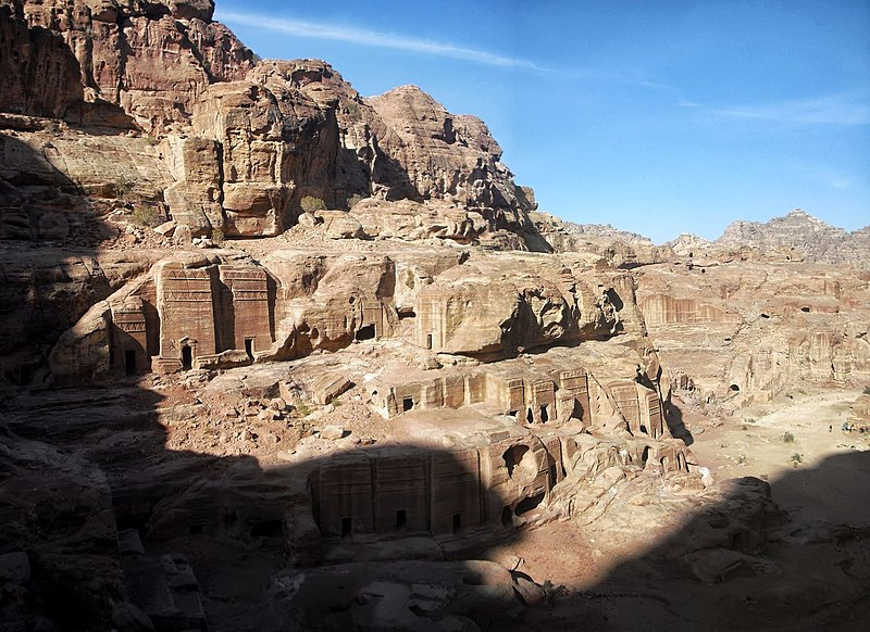 File:25a Petra High Place of Sacrifice Trail - Magnificent Views from the Trail - panoramio.jpg