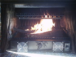 definition of fireplace
