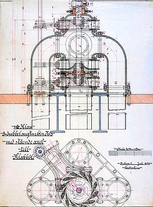 Klabböle Power Plant - Image: 3 dubbel sugturbin till Klabböle