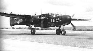 318th Fighter-Interceptor Squadron - 318th Fighter Squadron Northrop P-61B Black Widow at Hamilton Field in 1947