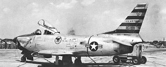 325th Fighter-Interceptor Squadron - North American F-86D Sabre 51-6181, at Truax Field in 1955