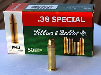 Full metal jacket bullet - Image: 38 special FMJ S&B including box