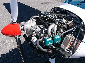 3Xtrim 3X55 Trener - 3Xtrim 3X55 showing its Rotax 912ULS engine installation