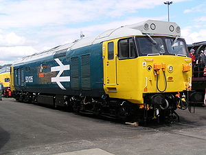 British Rail Class 50 - Image: 50035 'Ark Royal' at Doncaster Works