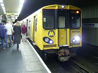 Northern line (Merseyrail) - A Northern line Class 507 at Liverpool Central
