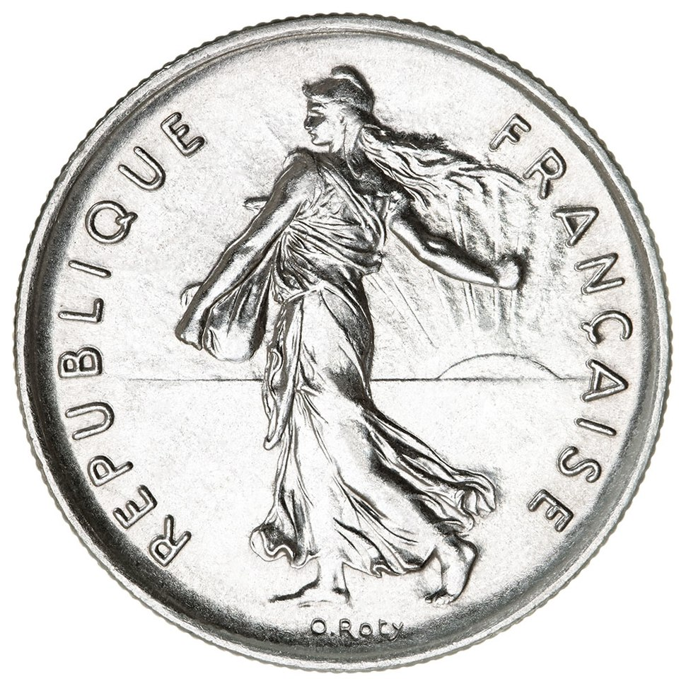 5 French francs Semeuse nickel 1970 F341-2 obverse