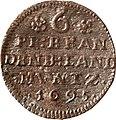 6 Pfennige, Landesdenkmalamt Berlin, Ausgrabung U5, 1157 – 2469, Vorderseite.jpg