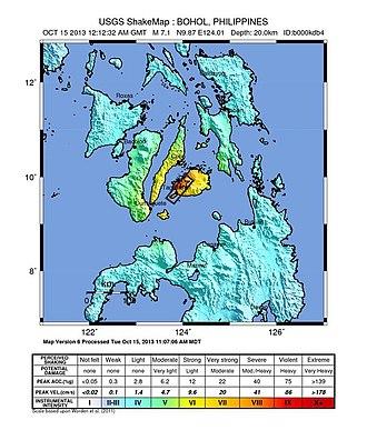2013 Bohol earthquake - Image: 7.2 Bohol, Philippines quake
