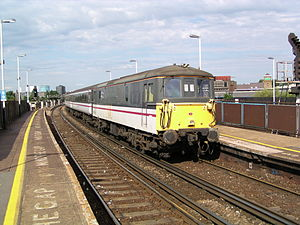 British Rail Class 73 - 73201, a class 73/2, in service with Gatwick Express in 2003