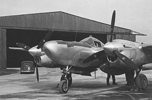 RAF Mount Farm - Lockheed F-5 (P-38) of the 7th Recon Group.