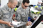 88th Medical Group technician relays information during August 4 2017 training exercise.jpg