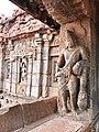 8th century Dvarapala at Virupaksha Shaivism temple, Pattadakal Hindu monuments Karnataka 1.jpg