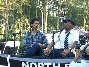 Touré (journalist) - Touré interviewing DJ Spooky at the 2009 Brooklyn Book Festival.