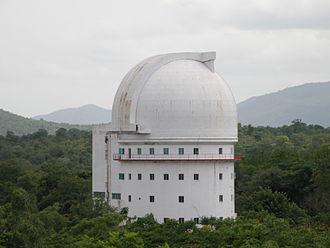 Tourism in Vellore - Vainu Bappu Telescope of 2.3m diameter, the largest in Asia