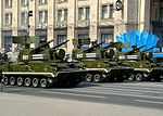 9K22 Tunguska during the Independence Day parade in Kiev.JPG