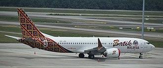 Boeing 737 MAX - The Boeing 737 MAX 8 entered service with Lion Air's subsidiaries Malindo Air/Batik Air
