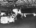 A-4B Skyhawk of VMA-214 in hangar of USS Hornet (CVS-12) c1963.jpg
