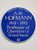 A.W. HOFMANN 1818-1892 Professor of Chemistry lived here.jpg