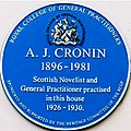 A. J. Cronin blue plaque.jpg