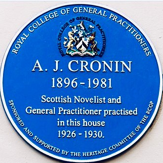 A. J. Cronin - Cronin blue plaque