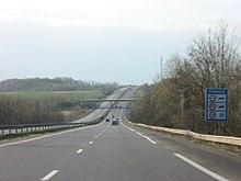 Début de l'A31 à la frontière luxembourgeoise