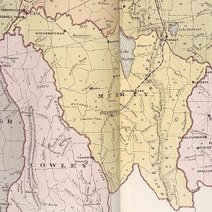 Lands administrative divisions of Australia - Map of Murray and Cowley counties in New South Wales in 1886, parts of which would eventually become the ACT