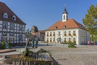 Angermünde Place in Brandenburg, Germany