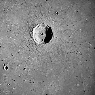 Timocharis (crater) - Timocharis from Apollo 15. NASA photo.