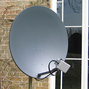 English: The receive/transmit terminal dish fr...