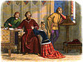A Chronicle of England - Page 331 - Queen Anne Intercedes for Sir Simon Burley.jpg
