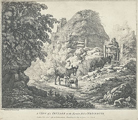 A view of a Cottage on the Keymin Hill Nr. Monmouth