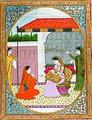 A pensive nayika with her sakhi (6124590293).jpg