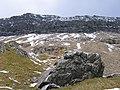 A rock by the Pyg track, and the Crib Goch ridge - geograph.org.uk - 774330.jpg