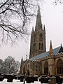 A view of St Wulfram's Church from Castlegate, Grantham, Lincolnshire - Dec 2005 (1).JPG