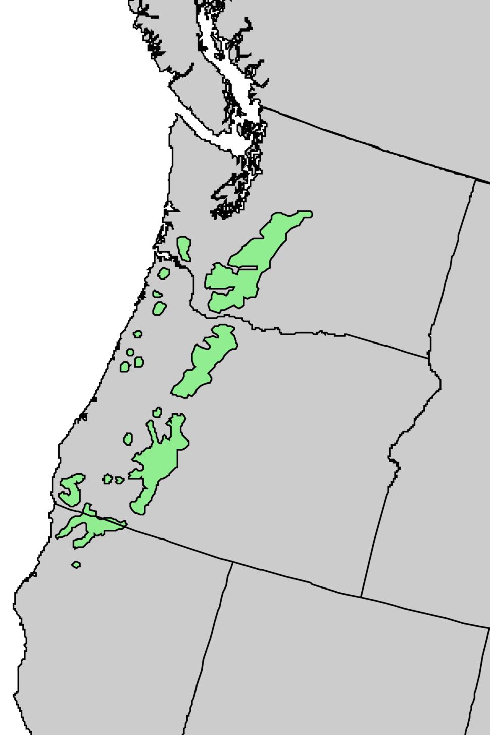 Abies procera range map 4