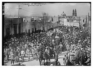 Abraham González (governor) - The funeral organized by Villa and filmed (by arrangement with Villa) by the Mutual Film Company