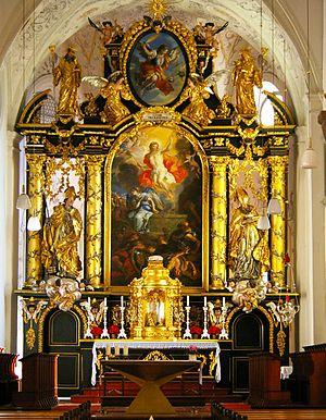 Michaelbeuern Abbey - Image: Abteikirche Michaelbeuern Hochaltar