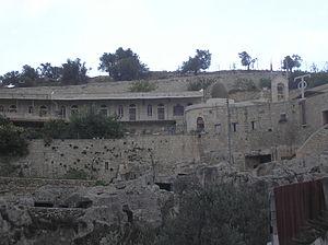 Akeldama - The monastery at Akeldama.