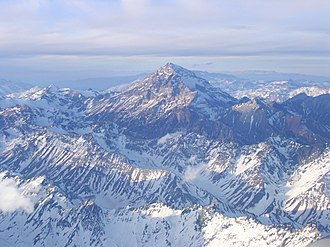 Southern Cone - A panoramic sight of Aconcagua. Located in Argentina, this summit - almost 7000 meters high - is the highest mountain on Earth besides the Himalayas, and continues to rise.
