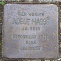 Adele Massé - Hauersweg 7 (Hamburg-Winterhude).Stolperstein.crop.ajb.jpg