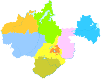 Chuzhou - Image: Administrative Division Chuzhou